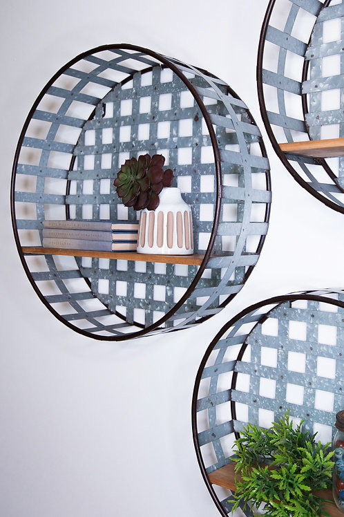 S/3 Round Gage Shelves