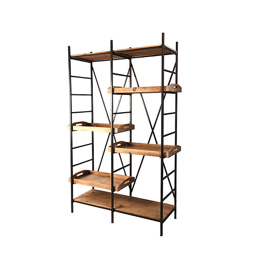 """Hartman 67.25"""" Storage Shelf with Removable Trays"""