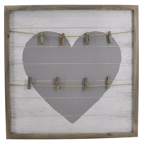 Square Heart Wall with Clips