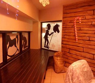 Custom space theme building by Ana Colomer (Christmas Grotto @ glór)
