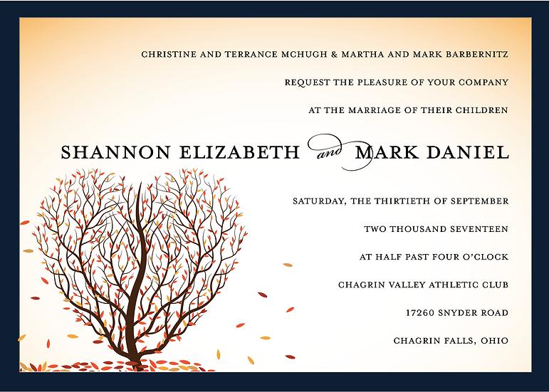 Autumn Heart Invitation Suite
