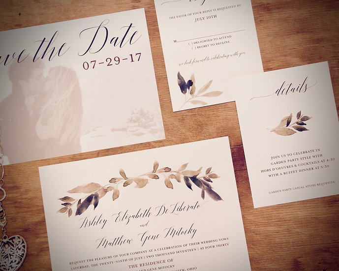 INVITATIONS: $5.50 Basic Set - Start Here!