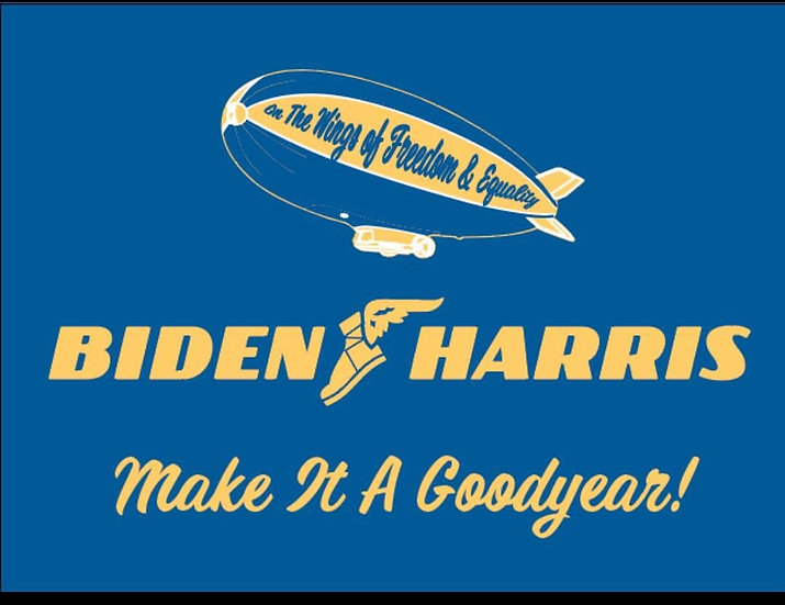 Biden Harris | Make it  Goodyear! 2 sided yard sign with a stake