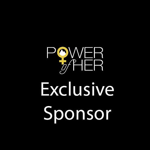 Exclusive Sponsor