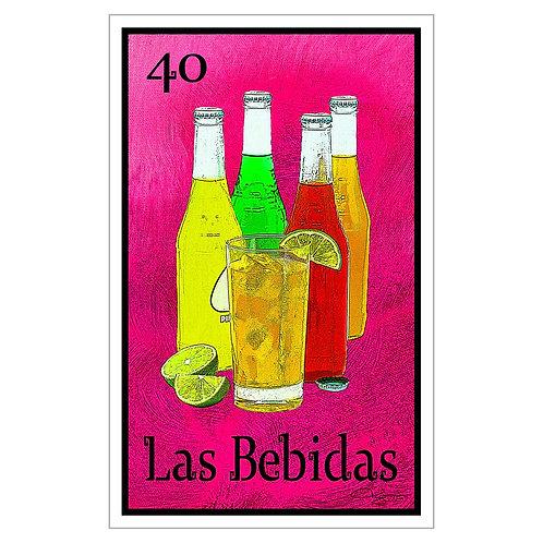 """Las Bebidas - 16"""" x 25.27""""  Canvas Print"""