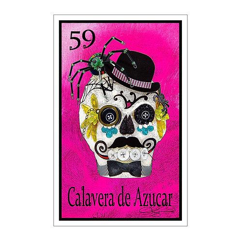 "Calavera de Azucar "" Spider""  16"" x 25.27""  Canvas Print"