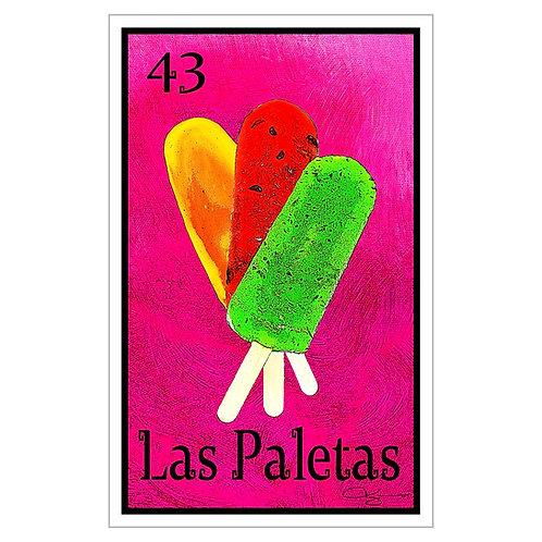 """Las Paletas - 16"""" x 25.27"""" Canvas Print"""