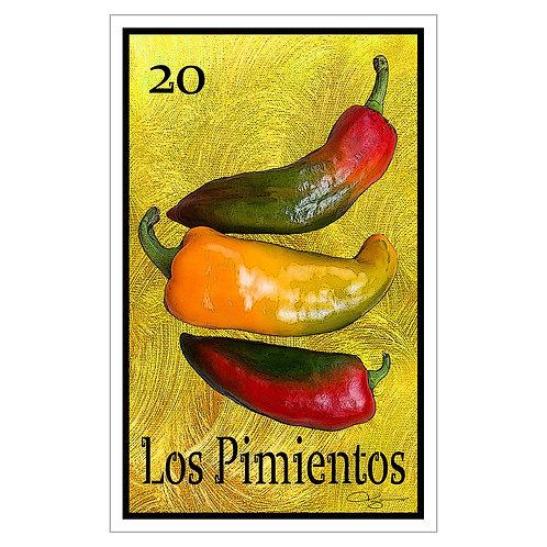 """Los Pimientos - 16"""" x 25.27""""  Canvas Print"""