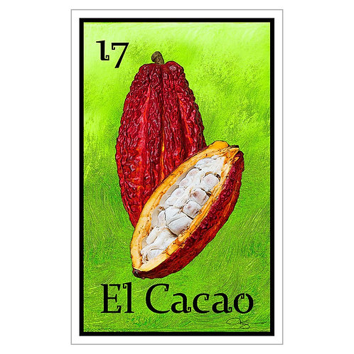 """El Cacao - 16"""" x 25.27""""  Canvas Print"""