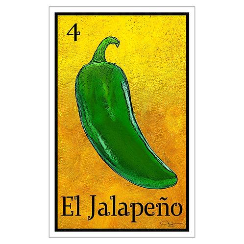 """El Jalapeño - 16"""" x 25.27""""  Canvas Print"""