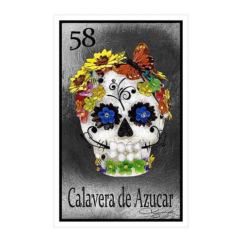"""Calavera de Azucar """"Butterfly""""  16"""" x 25.27""""  Canvas Print"""