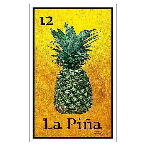 "La Piña - 16"" x 25.27"" Canvas Print"