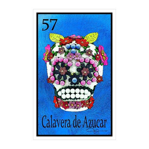 "Calavera de Azucar ""Flora""  16"" x 25.27""  Canvas Print"