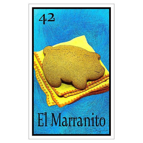 "El Marranito - 16"" x 25.27""  Canvas Print"