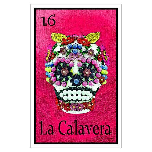 """La Calavera - 16"""" x 25.27""""  Canvas Print"""