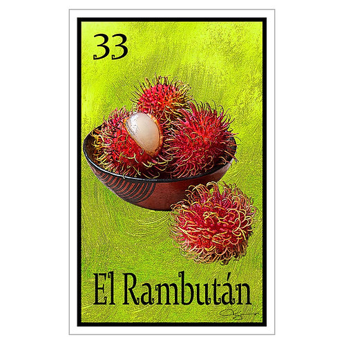 "El Rambután - 16"" x 25.27""  Canvas Print"