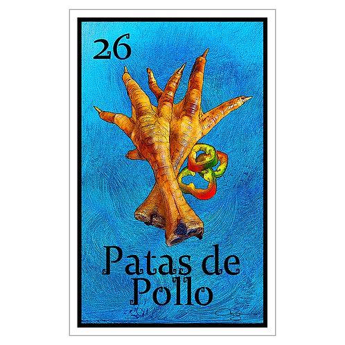 """Patas de Pollo - 16"""" x 25.27""""  Canvas Print"""