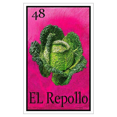 """El Repollo - 16"""" x 25.27""""  Canvas Print"""