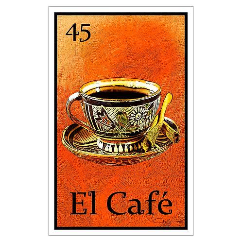 """El Café - 16"""" x 25.27""""  Canvas Print"""