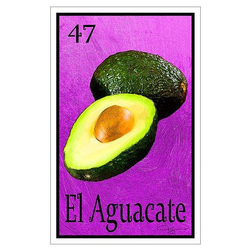 "El Aguacate - 16"" x 25.27""  Canvas Print"