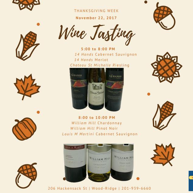 WRWL - Calendar - Thanksgiving Week Wine