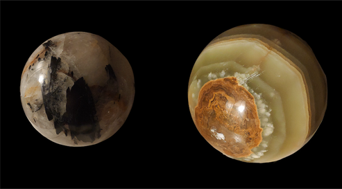 Sphères tourmaline / Jade