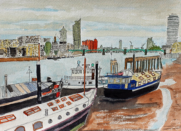 Barges at Wandsworth, London