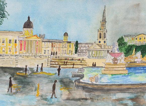 Dusk at Trafalgar Square (Lon 6)