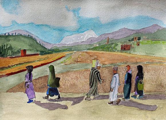 Walking to Berber market (Mar 3)