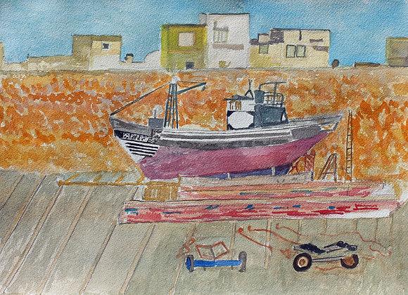 El Jadida boatyard (Mar 4)