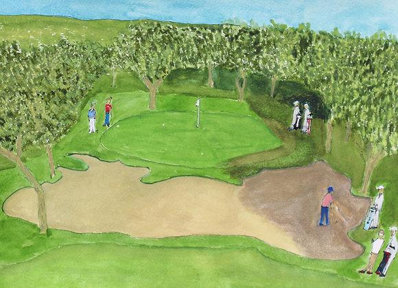 The 8th green at Valderrama
