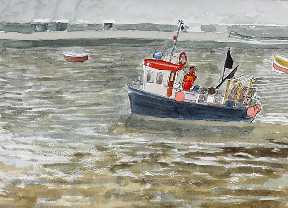 Fishing boat, Staithes, Yorkshire