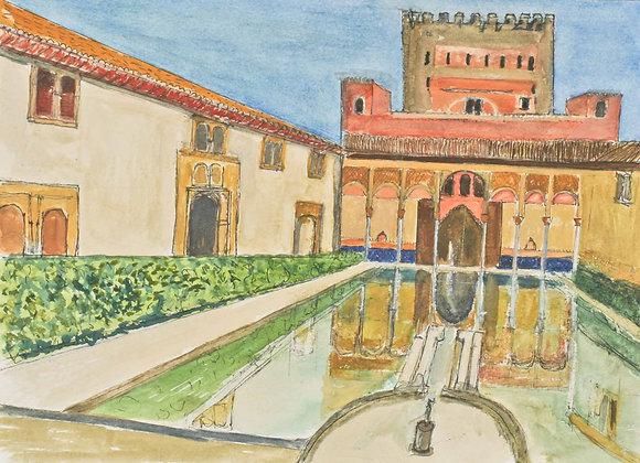 Patio de Comares,  El Alhambra  (GR-3)