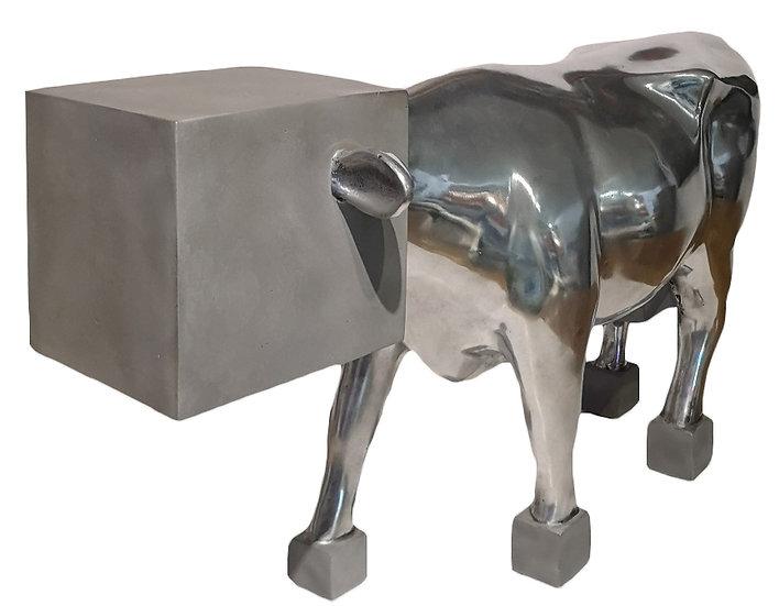 Quelle vache !... - Fonte d'aluminium - EA II/IV - 2012 - 31 x 20.5 x 56 cm