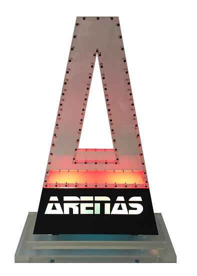 A de Arenas - Plexiglass avec rétro-éclairage - 60 x 42 x 17 cm