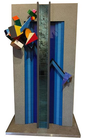Maquette du Novotel Arenas de Nice - Bois et Plexiglass -1990- 6/7 - 141 x 84 cm