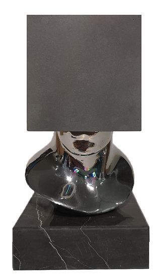Tête Carrée - Fonte d'aluminium - EA I/IV - 22 x 12 x 12 cm