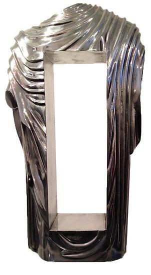 Drapé - Fonte d'aluminium - EA IV/IV - 60 x 36 x 16 cm