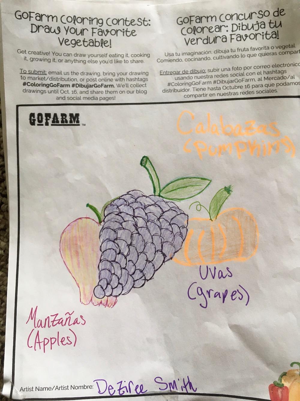 Grapes, Apples, and Pumpkin
