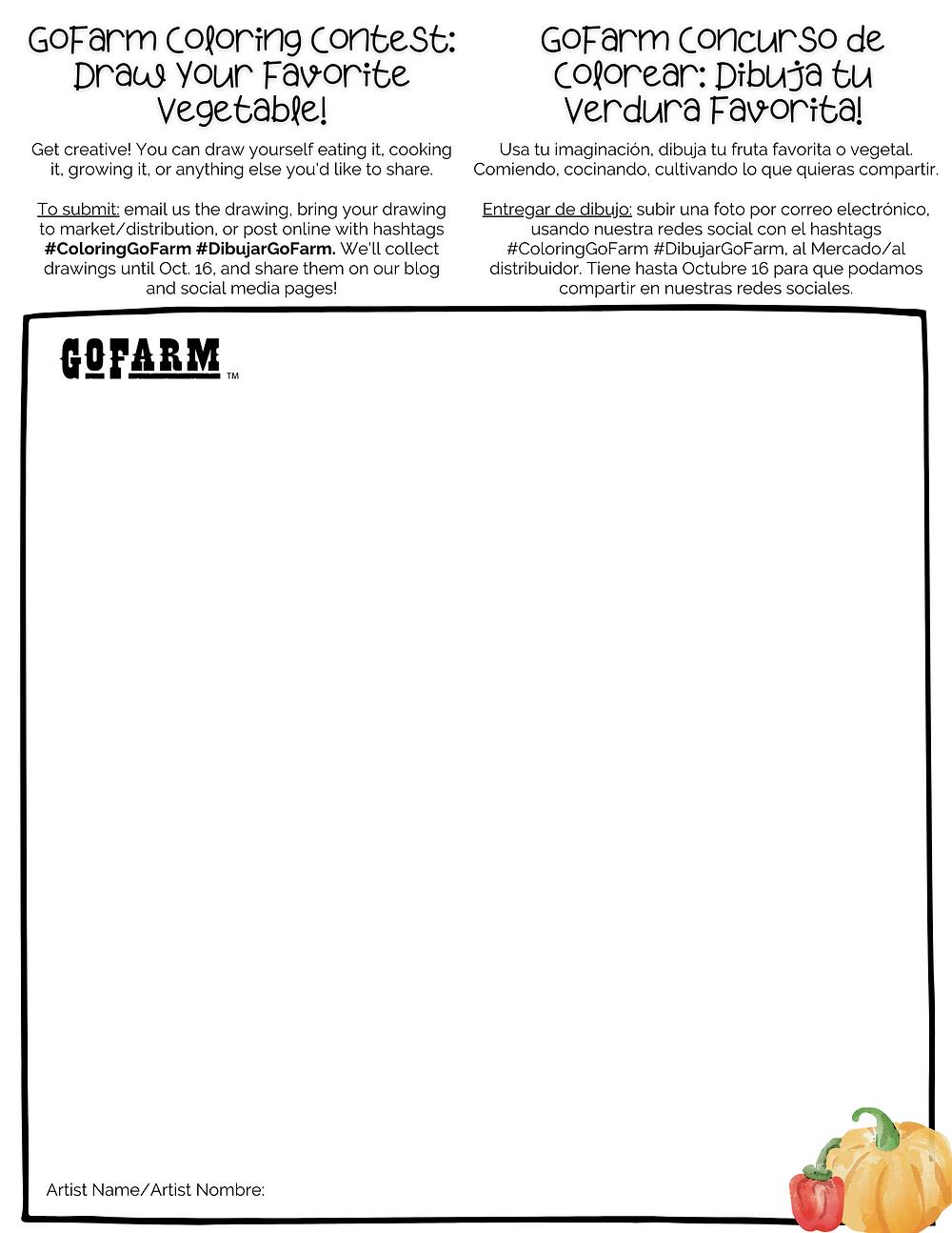GoFarm Coloring COntest