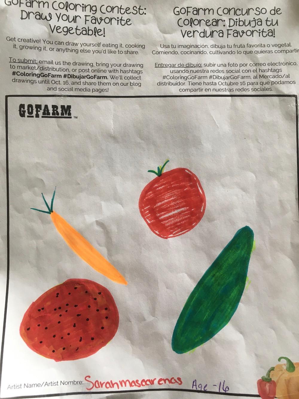 Carrots, Tomatoes, Cucumbers