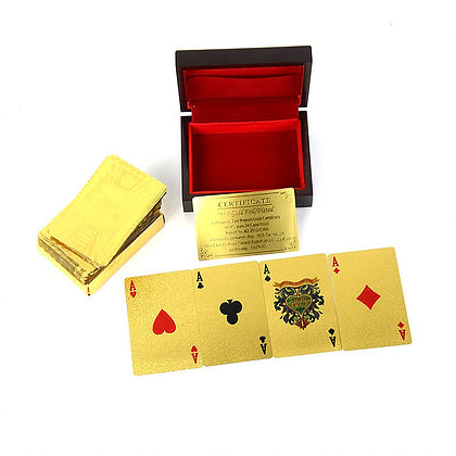 24CT GOLD PLAYING CARDS WITH BOX