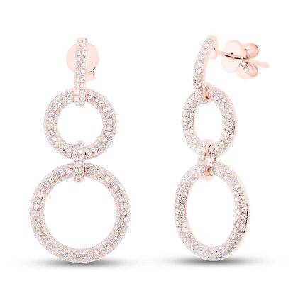 UNE BEAUTÉ ROSE EARRINGS
