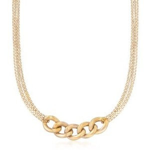 CHAIN REACTION YELLOW NECKLACE