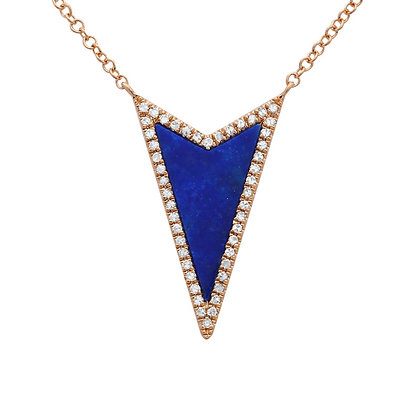 DID IT MY WAY BLUE NECKLACE