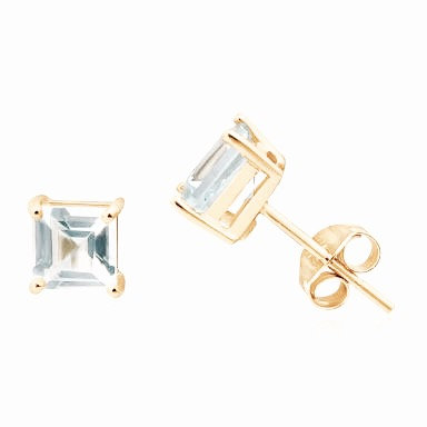AQUAMARINE AMOUR EARRINGS