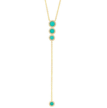 DAY ON THE YACHT TURQUOISE NECKLACE