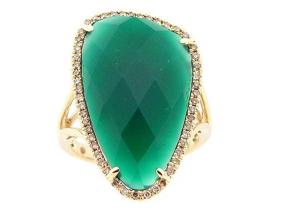 GREEN ONYX OF LUXURY RING