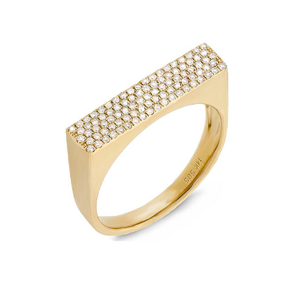 FINE LINES YELLOW RING