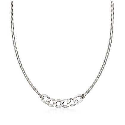 CHAIN REACTION WHITE NECKLACE